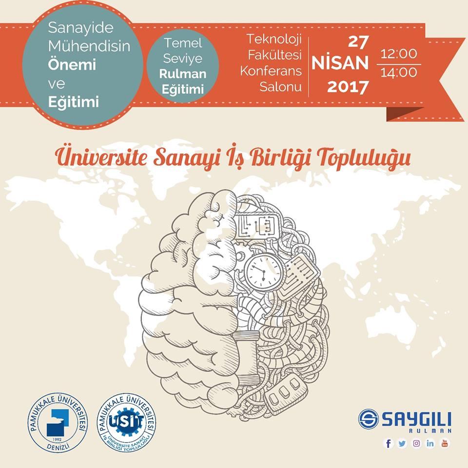 27 Nisan'daPamukkale Üniversitesi'nde Seminerdeyiz.