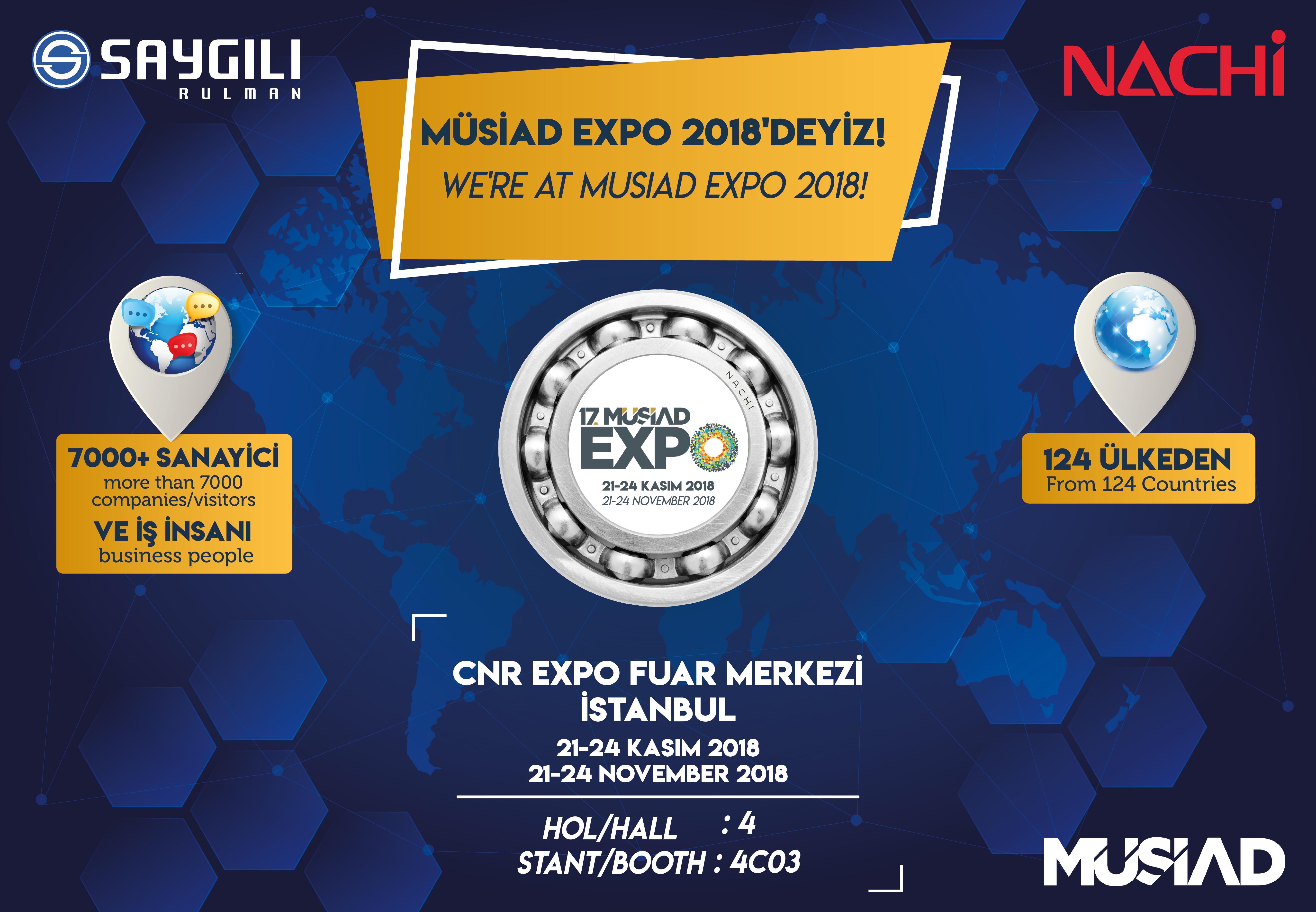 MÜSİAD EXPO 2018'DEYİZ!