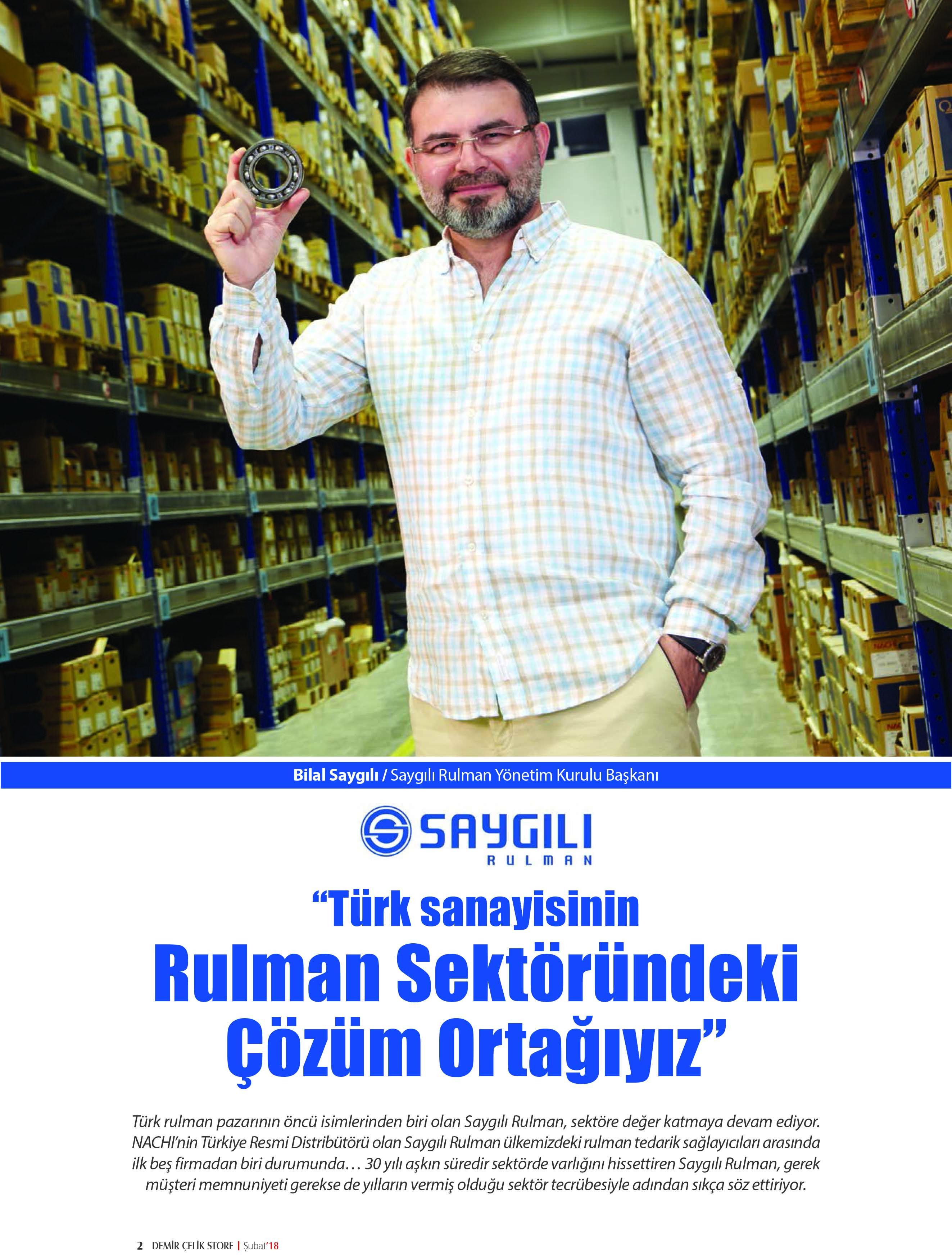 """""""TÜRK SANAYİSİNİN RULMAN SEKTÖRÜNDEKİ ÇÖZÜM ORTAĞIYIZ"""""""